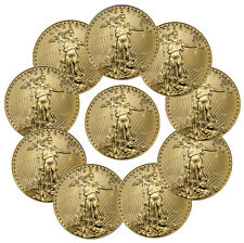 2017 $5 1/10 oz. American Gold Eagle - Lot of 10 Coins PRESALE SKU44742