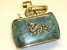 KW (KARL WIEDEN) TABLE SEMI-AUTOMATIC LIGHTER W. DRAGON MOTIF - 1930 - GERMANY