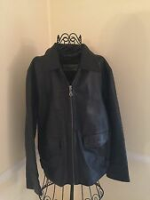 Wilsons M Julian  XL Leather Black Moto Cafe Jacket