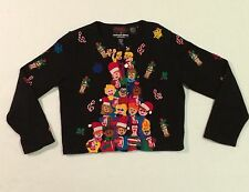 Michael Simon Coca Cola Coke Beaded Christmas Holiday Sweater Cardigan SZ M Vtg