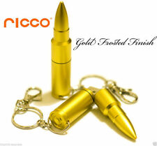 16GB ALUMINUM AK47 BULLET USB 2.0 Flash Drive Memory Stick Pen SATINATA MATT ORO