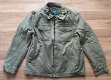 NEW Men's G. H. BASS & CO. Khaki Canvas Utility Full Zip Jacket Size Large L