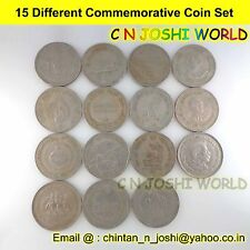 Very Rare 50 Different Copper Nickel 1 + 2 + 5 Rupees Commemorative Coins Set