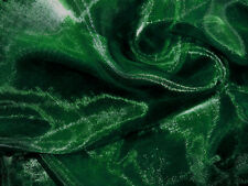 A37 (Per Meter) Dark Green Crystal Mirror Organza Darpping Sheer Fabric Material