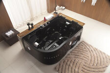 New 2016 Indoor Jetted Hydrotherapy Whirlpool Bathtub Hot Tub Spa BLACK 2 Person