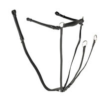 Leather Breastplate With Running  Martingale Attachment All Sizes Black or Brown