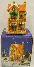 Olde Town Christmas Village Grocery Store Porcelain Bisque Miniature Piece 1993
