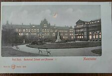 MANCHESTER PEEL PARK HOLD TO THE LIGHT W H BERLIN POSTCARD