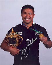 Keven Mealamu, New Zealand All Blacks, RWC 2011, signed 10x8 photo. COA. Proof.
