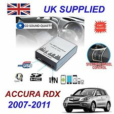ACURA RDX 07-11 MP3 SD USB CD AUX Input Audio Adapter Digital CD Changer Module