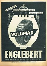 D- Publicité Advertising 1955 Les Pneus Vomumax  Englebert