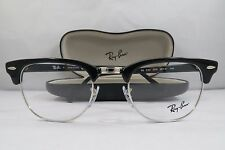 Ray-Ban RB 5154 2000 Clubmaster Black New Authentic Eyeglasses 49mm w/Case