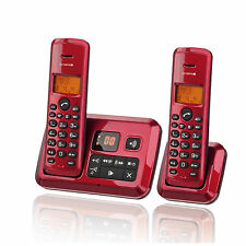 Olympia Certo A he Twin Cordless Duo phone with answering machine Red