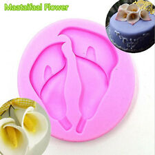 New 3D Calla Flower Silicone Cake Mold Cupcake Mould Fondant Baking Sugar Craft