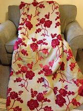 Laura Ashley Curtains In Marcina Cranberry Damask Fabric Thermal Lining