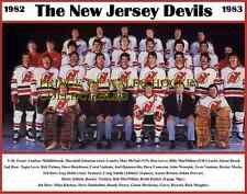 1983 NEW JERSEY DEVILS TEAM PHOTO 8X10