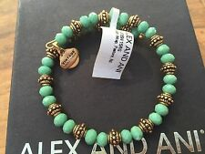 BOX CARD ALEX and ANI VINTAGE 66 New Day PASTURE BLOOM Beaded WRAP BRACELET