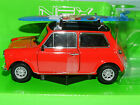 Welly 1/24 Mini Cooper 1300 with Roof Racks and Surfboard (Red) MIB