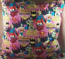 Home Décor' Pillow Heroes Super Girl Wonder Woman Bat Pink Red Blue NEW