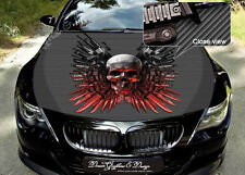 Skull Full Color Graphics Adhesive Vinyl Sticker Fit any Car Hood Bonnet #141