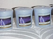 Yankee Candle Storm Watch scented votives lot 4 new blue wax