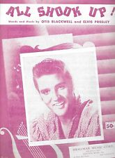 ELVIS PRESLEY Vintage 1957 Sheet Music ALL SHOOK UP #1 Hit   Beatles Billy Joel