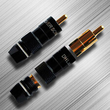 DH Labs Silver Sonic RCA-750 75Ω  Audiophile Quality RCA Connectors Set of 2