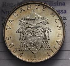 NL* CITTA' DEL VATICANO SEDE VACANTE 500 LIRE ARGENTO 1958 FDC ASSOLUTO CON LUST