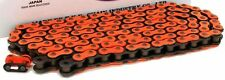 NEW HEAVY DUTY MOTORCYCLE CHAIN 520 120 LINK - ORANGE COLOUR - MOTORBIKE