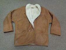 VTG BRITCHES SHEARLING SHERPA LEATHER JACKET MOTORCYCLE SPORT L MEN 80S WESTERN