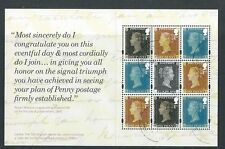 GREAT BRITAIN 2016 ROYAL MAIL 500, PENNY POSTAGE PANE FROM PRESTIGE BOOKLET PANE