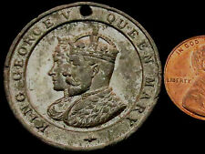 M810: 1911 King George V & Queen Mary Coronation Medal in white metal