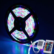 5M 3528 RGB SMD LED Fairy Strip Light Xmas Festival Lamp + 24Key Non-Waterproof