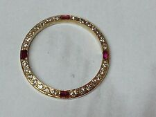 ROLEX Diamond & Ruby custom18ct gold bezel 26mm