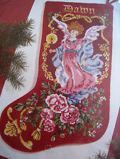 Christmas Janlynn Holiday Needlepoint Stocking Kit,VICTORIAN ANGEL,136-21,17""