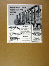 1964 Helin Fishing Lures fisherman muskie musky tournament photo print Ad