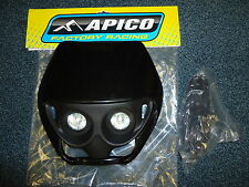 New Apico Twins Headlight Enduro Motorbike Motorcycle Black Universal 1125