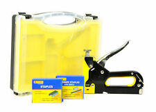 HEAVY DUTY 3 IN 1 STAPLE GUN WITH 600 STAPLE PINS AND CARRY CASE - MARKSMAN