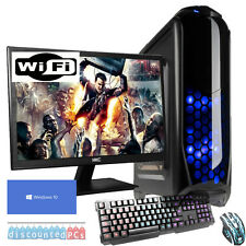 QUAD CORE Desktop Gaming PC Computer Bündel 3,7 GHz 16GB SSD ATI RX 470 4GB jf74