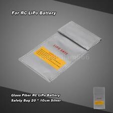 20 * 10cm Glass Fiber RC LiPo Battery Safety Bag Safe Guard Charge Sack J5KT