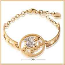 BRAZALETE DE ORO AMARILLO GOLD FILLED  CON OSO LOVE