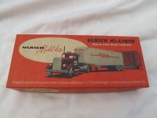 Vintage ULRICH HO P.I.E Cab Over TRUCK & TRAILER NEW OLD STOCK IN BOX
