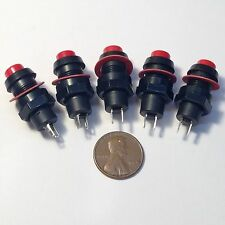 5 Pcs Red On-Off 10mm Self-Locking Push Button Switch DS-211