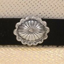 Genuine Navajo Sterling Scalloped Concho Hat Band