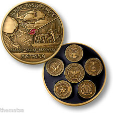 "HURRICANE KATRINA JOINT TASK FORCE 1.75"" MADE IN USA  CHALLENGE COIN"