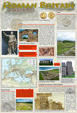 laminated ROMAN BRITAIN old UK England educational history poster wall chart