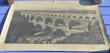 Affiche ancienne, le Pont du Gard, photographie N&B, 64 x 49 cm,