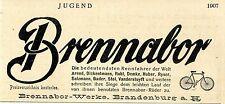 Fahrräder Brennabor- Werke Brandenburg Rennfahrer der Welt...Histor.Werbung 1907