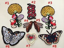 Set of 8 pcs / Flower patch / Snake Patch / Embroidered patch/ Sew on patch /Bee