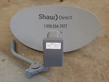 NEW Shaw Direct Starchoice Satellite Dish Elliptical Antenna w/ XKU LNB 4 port